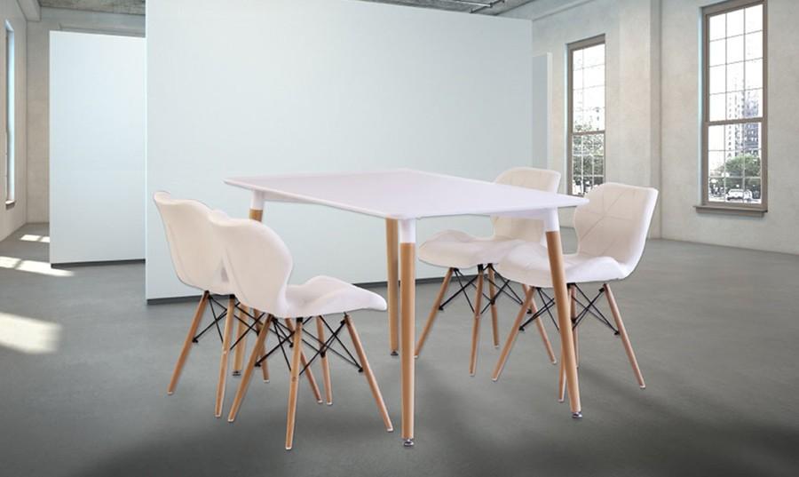 Conjunto de mesa y cuatro sillas Picasso | Comprar conjuntos de ...