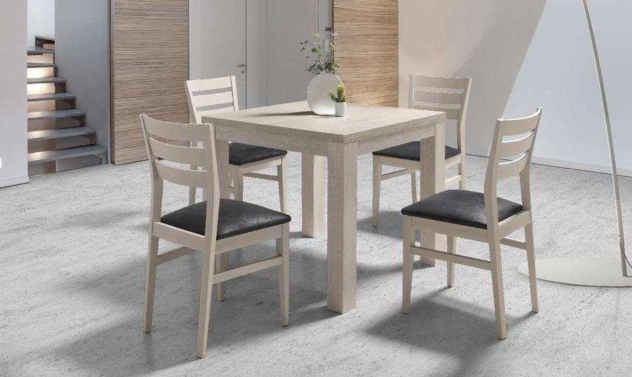 Conjunto de mesa y cuatro sillas Lutier | Comprar Conjuntos de Mesas ...