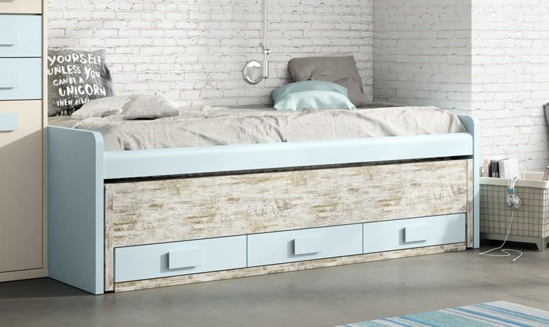 Cama nido con cajones Francis | Comprar camas nido en Muebles Rey