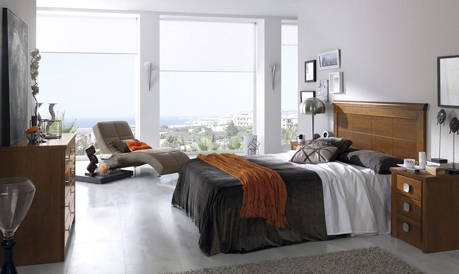 Cabecero de cama y dos mesillas de noche de madera Fátima | Comprar ...