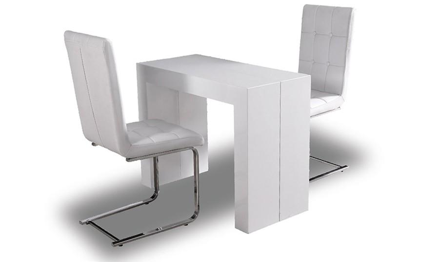 Mesa de comedor plegable extensible excellent mesa de - Mesas comedor plegables tipo consola ...