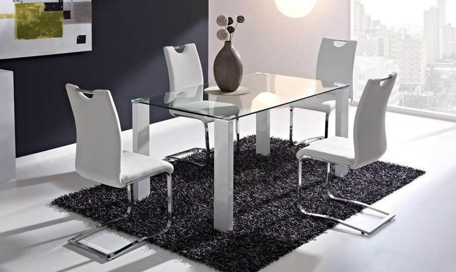 Sillas para mesa de comedor de cristal casa dise o - Mesas de comedor de cristal de diseno ...
