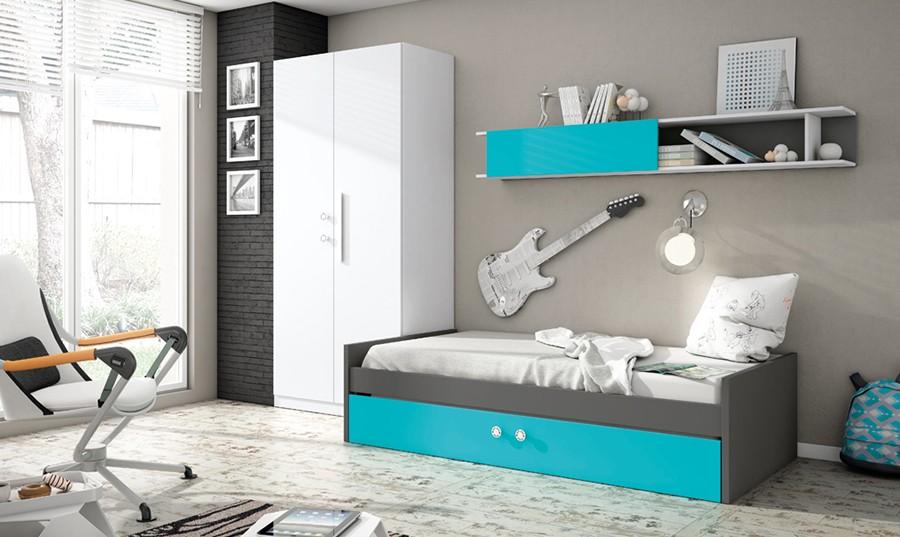 Cama nido para dormitorio juvenil Cambridge | Comprar Camas nido en ...