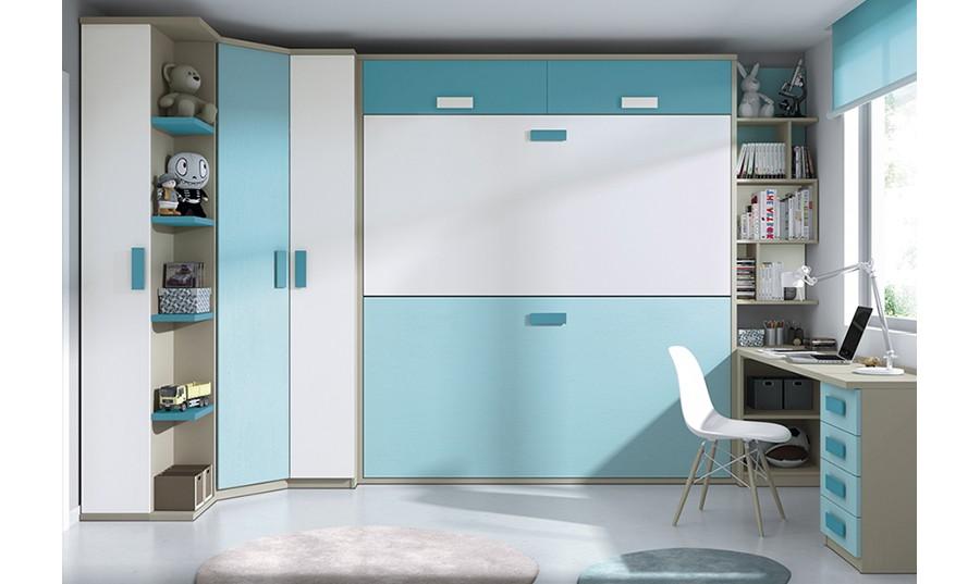 Armarios de esquina un mueble de esquina de baldas for Dormitorios juveniles con armario esquinero