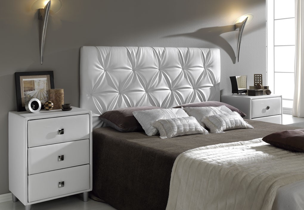 Cabezal cama acolchado good habitacin de matrimonio con - Cabecero de cama acolchado ...