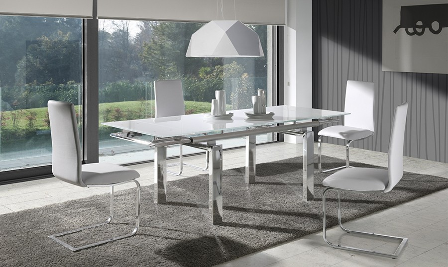 Mesa de comedor extensible de cristal Selena | Comprar Mesas de ...