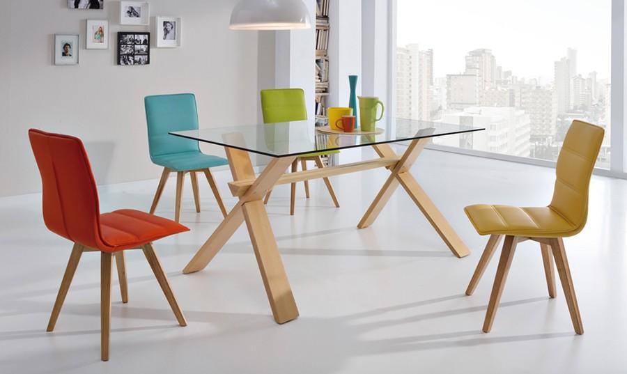 Mesa de comedor fija de cristal Dalí | Comprar Mesas de comedor en ...