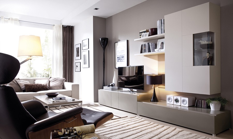 Mueble de salón moderno y funcional Trieste | Comprar Librerías en ...