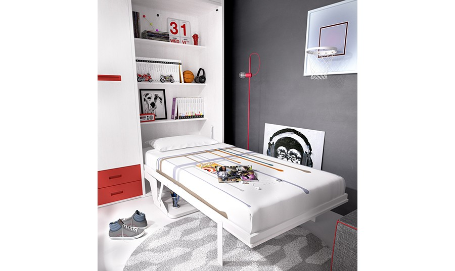 Cama abatible con escritorio Bako | Comprar Camas abatibles en ...