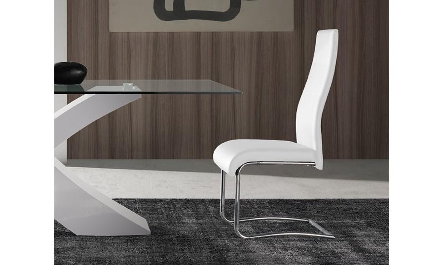 silla de comedor blanca tipo balancn iron comprar sillas de comedor en muebles rey - Sillas De Salon Modernas