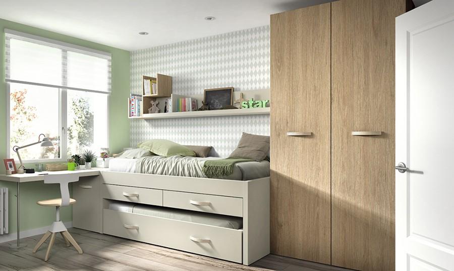 Estante de pared para dormitorio juvenil Lenon | Comprar Estanterías ...