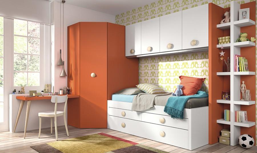 Estantería vertical para dormitorio juvenil Niko | Comprar ...