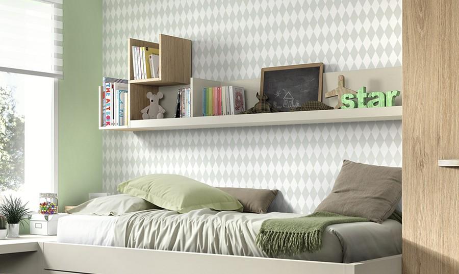 Estanterias habitacion infantil affordable armarios para for Estantes dormitorio matrimonio