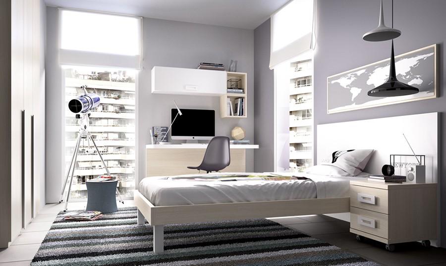 Conjunto para dormitorio juvenil Belfast | Comprar Conjuntos ...