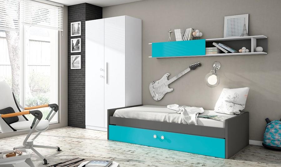 Dormitorios juveniles en blanco haga click para agrandar - Muebles rey dormitorios juveniles ...